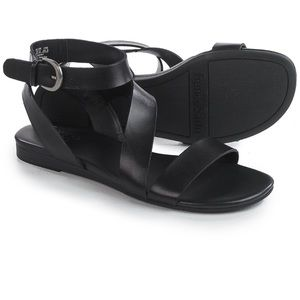 Franco Sarto Gustar Black Asymmetrical Sandals 8.5